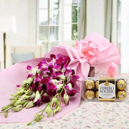 Ferrero Rocher and Orchids