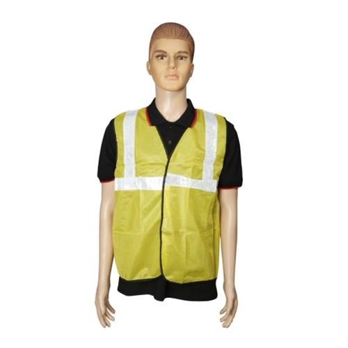 Nova Safe Reflective Safety Jacket 2 inch Cloth, Yellow, 65 GSM