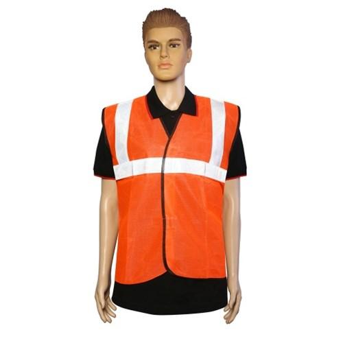 Nova Safe Reflective Safety Jacket 2 inch Cloth, Orange, 65 GSM