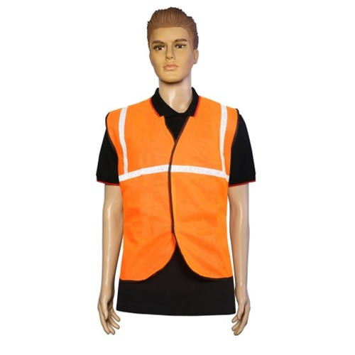 Nova Safe Reflective Safety Jacket 1 inch Cloth, Orange, 65 GSM