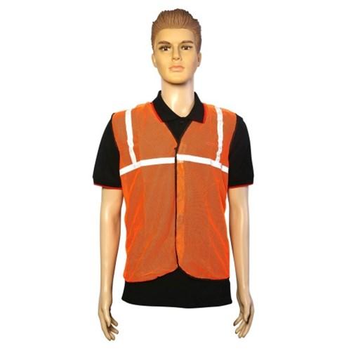 Nova Safe Reflective Safety Jacket 1 inch Net, Orange, 65 GSM
