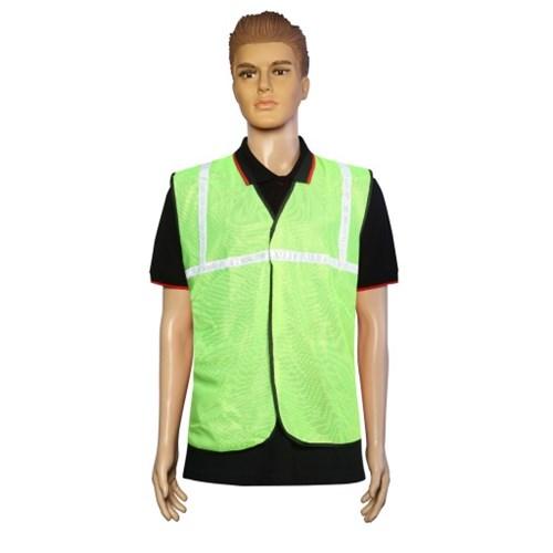 Nova Safe Reflective Safety Jacket 2 inch Net, Green, 65 GSM