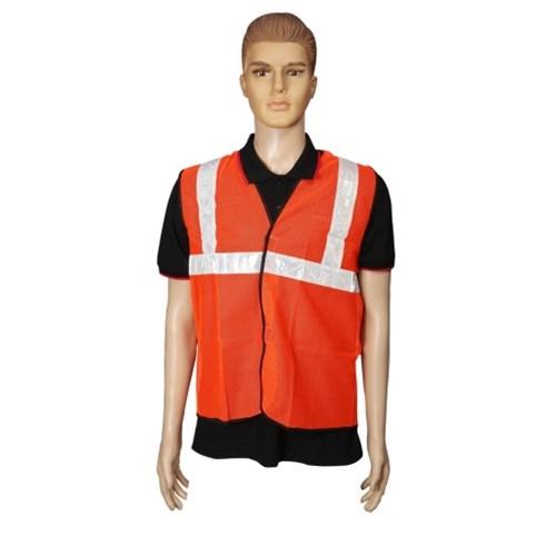 Nova Safe Reflective Safety Jacket 2 inch Net, Orange, 65 GSM