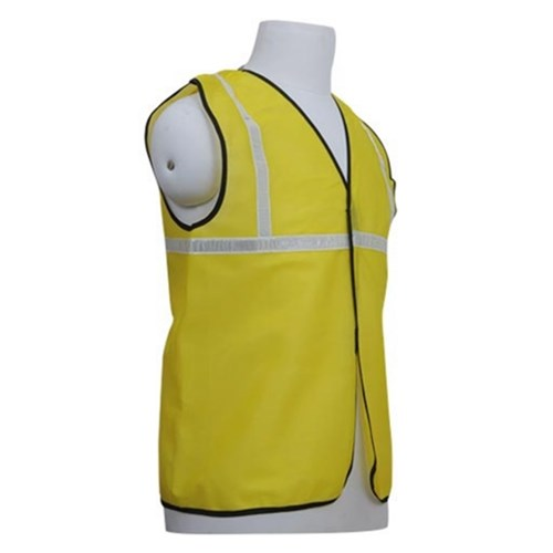 Nova Safe Reflective Safety Jacket 1 inch Cloth, Yellow, 65 GSM