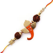 ASCENSION ™ Rakhi Raksha Bandhan Gift Band Moli Bracelet WRISTBANDS Roli Chawal Tilak